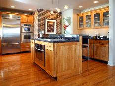 kitchen island with appliances