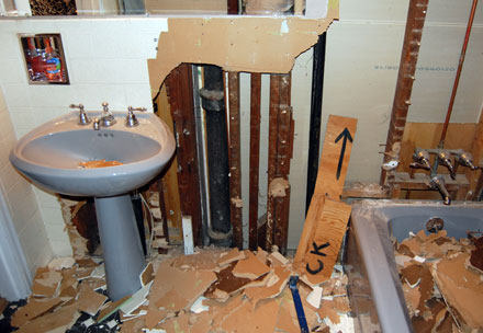 Lousy Construction Results: Failed Home Remodel Construction Project