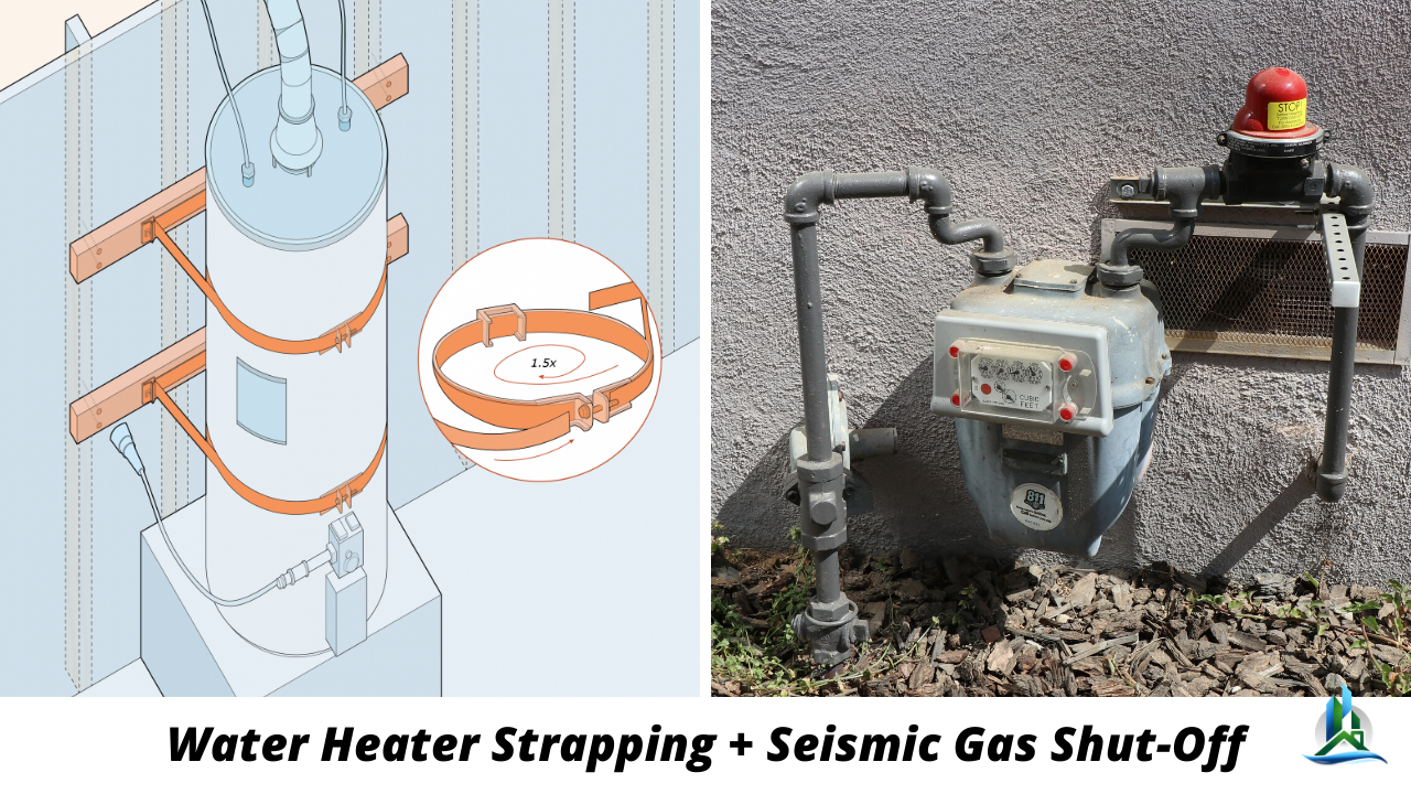 seismic gas shut off - water heater strap - seismic retrofit near me