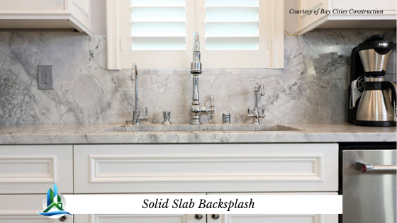 solid slab backsplash - bay cities construction