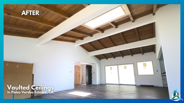 SIP Panels - vaulted ceiling after