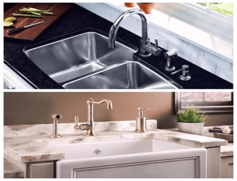 Kitchen Sinks: Stainless-Steel vs. Porcelain