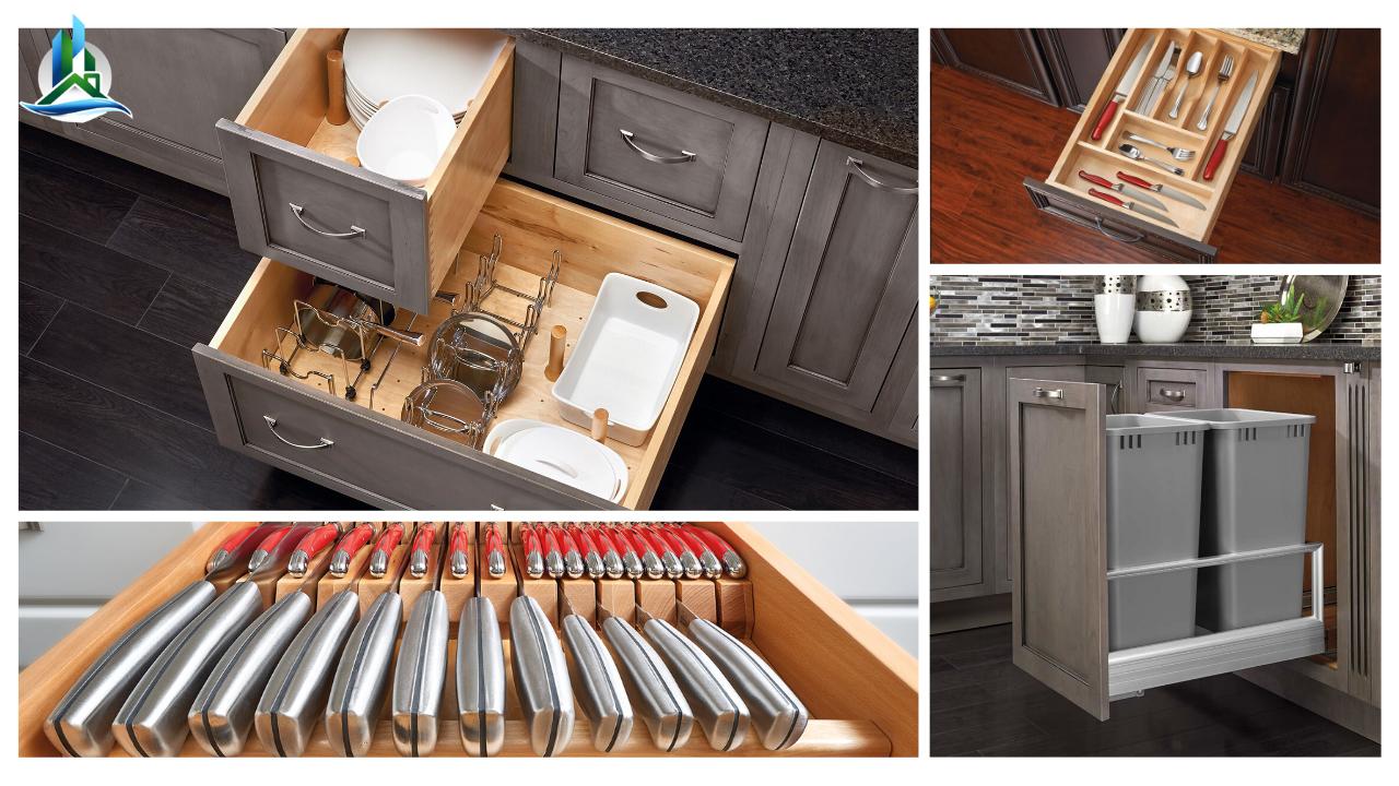 kitchen storage inserts - bay cities construction