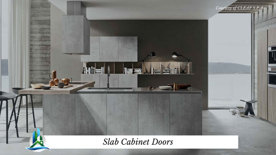 slab cabinet doors - bay cities construction