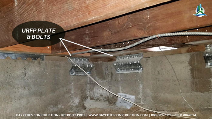 urfp plate installed - retrofit pros - brace and bolt retrofit