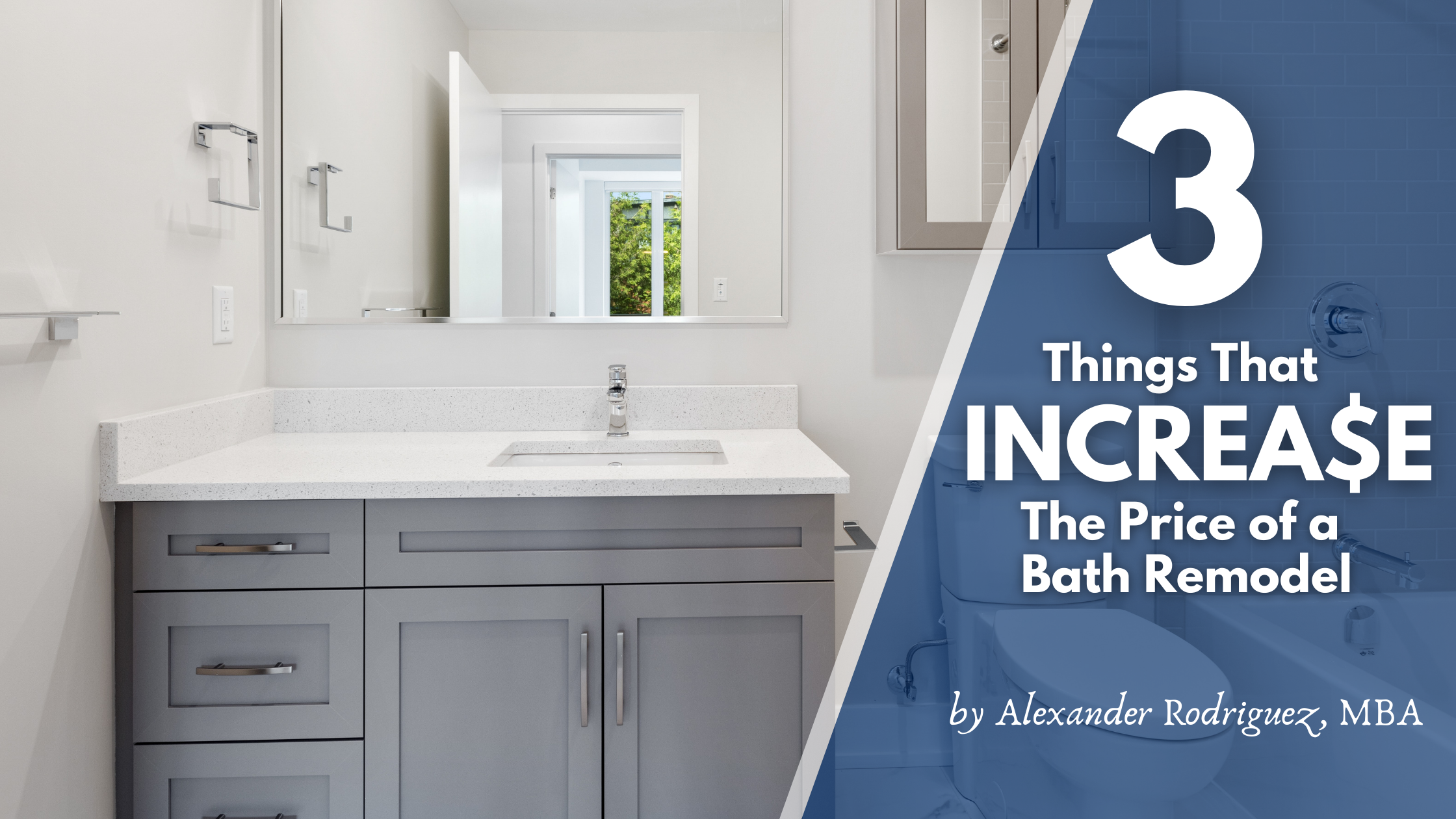Bathroom Remodeling Costs - 3 Things that Increase the Price of Bathroom Remodels