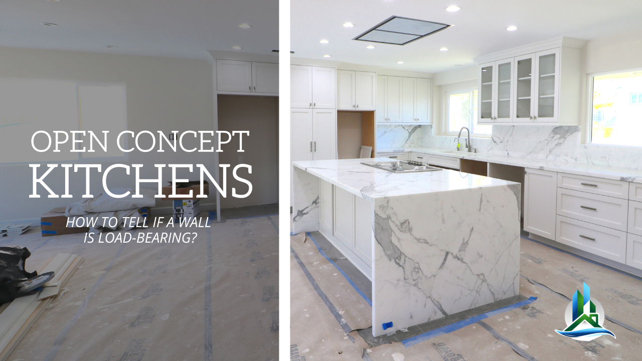 Open Concept Kitchen Remodel | Removing Load Bearing Walls