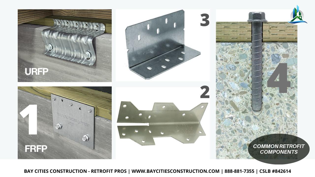 common foundation retrofit components - retrofit pros - brace and bolt