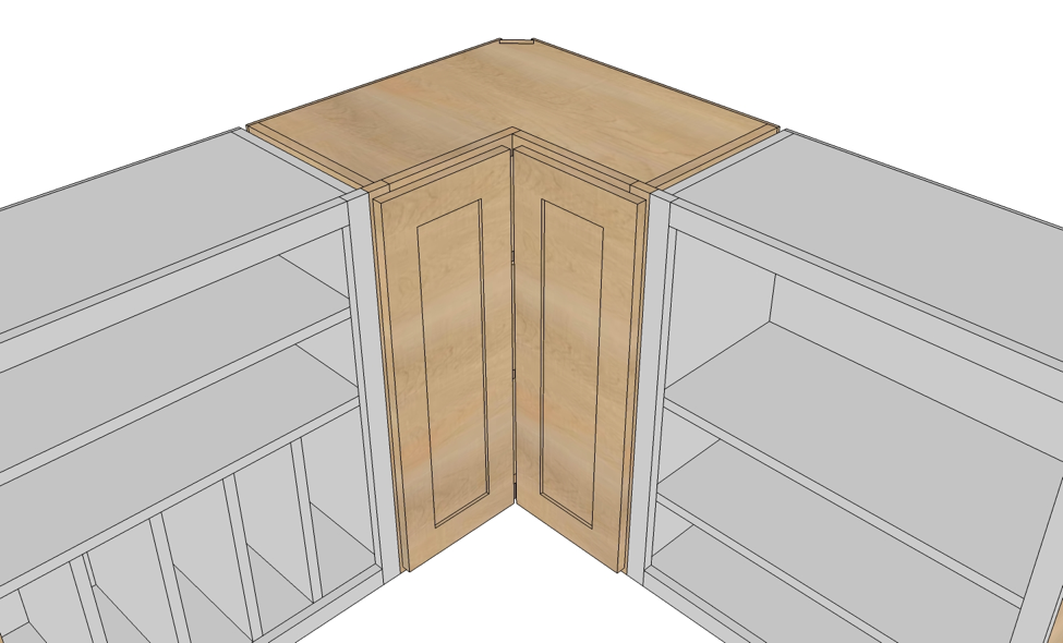 Kitchen Cabinets Blind Corner Cabinet, How To Fix Pull Out Corner Kitchen Cupboard Doors