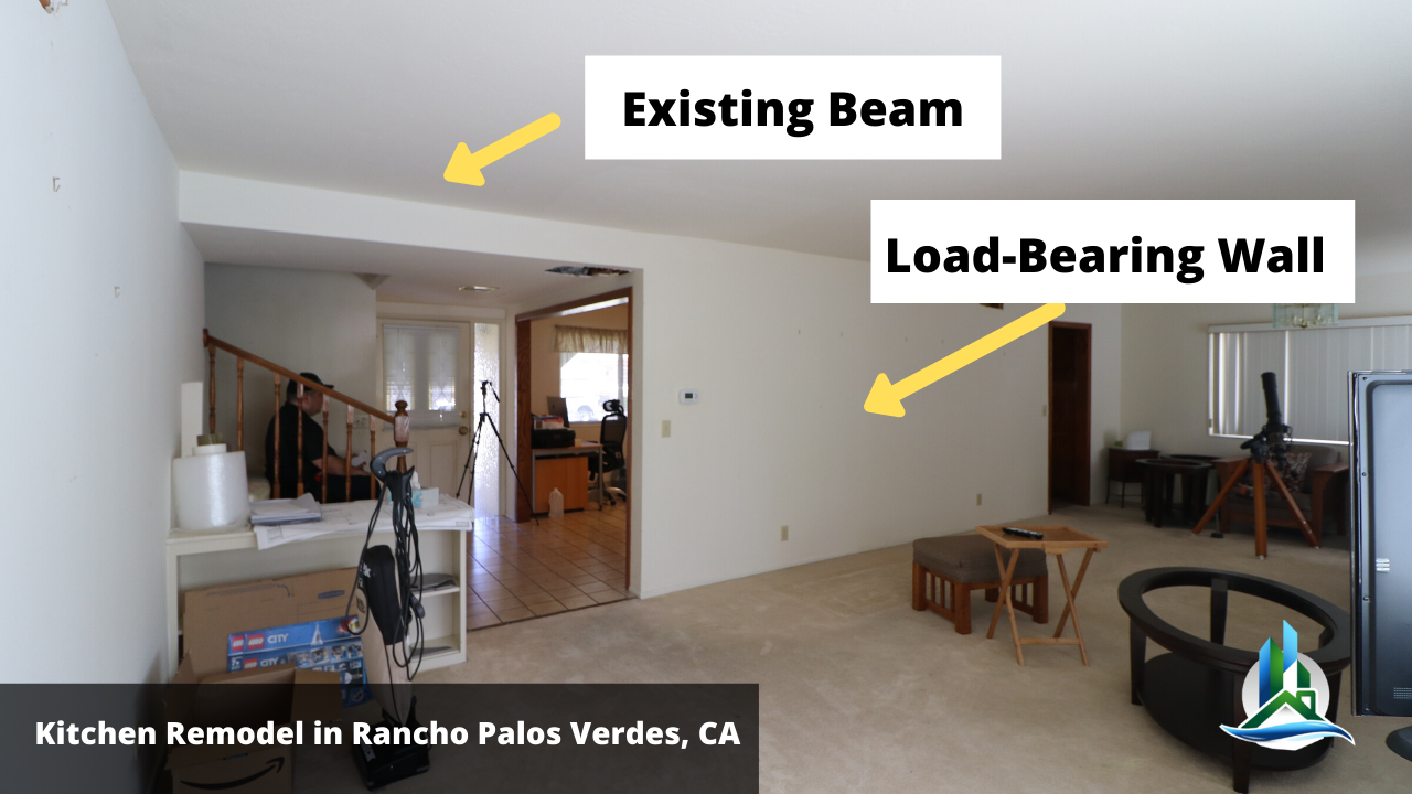 open concept kitchen - what is load bearing wall