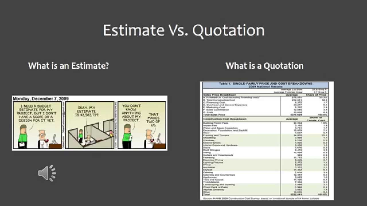 What's the Difference Between a Construction Quote and Estimate?