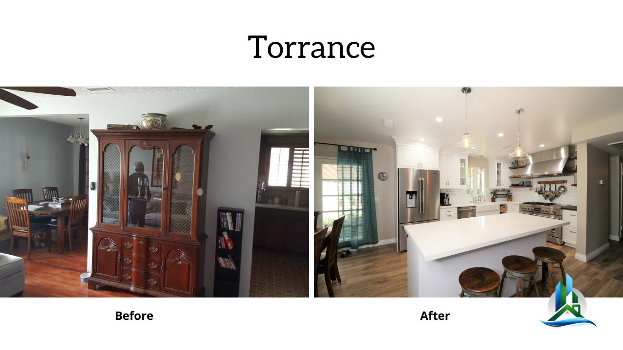 torrance kitchen remodel - before after - bay cities construction